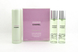 Chanel Chance EAU FRAICHE Twist and Spray EDT Purse Spray 3 x 20 ml. Women NIB