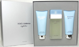 Light Blue Perfume by Dolce & Gabbana EDT 3 Piece Gift Set.