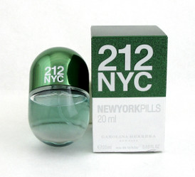 212 NYC NEW YORK PILLS by Carolina Herrera for Women 0.68oz./20ml. EDT Spray  New