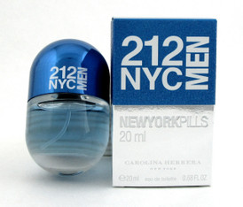 212 NYC MEN Cologne by Carolina Herrera 0.68 oz./ 20 ml. EDT Spray New in box