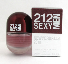 212 SEXY MEN Cologne by Carolina Herrera 0.68 oz./ 20 ml. EDT Spray New in box