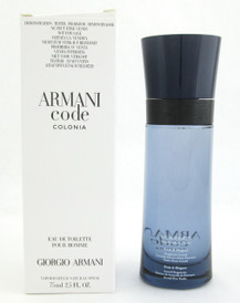 Armani Code Colonia by Giorgio Armani EDT Spray for Men Tester 75 ml./ 2.5 oz.