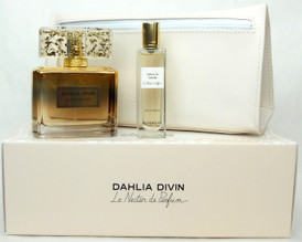 Dahlia Divin Le Nectar de Parfum Givenchy EDP Intense 2.5 oz.+15 ml.+ Cosmetic Bag. New Set.