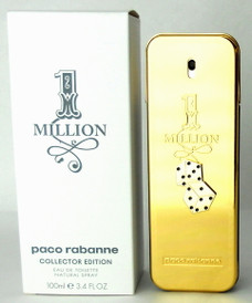 Paco Rabanne 1 Million Monopoly Collector Edition 3.4 oz.EDT Spray Tester.
