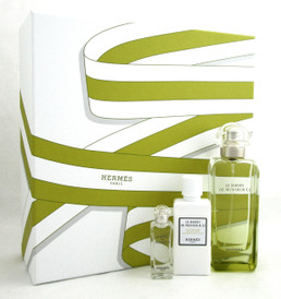 Le Jardin De Monsieur Li by Hermes 3.3oz EDT Spray+7.5ml EDT+1.35oz B/L. New Set