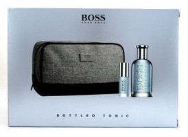 Hugo Boss Bottled Tonic Cologne 3.3 oz.+ 8 ml. EDT Spray + Bag. Brand New Set.