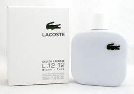 Eau de Lacoste L.12.12 BLANC PURE Cologne 3.3 oz. EDT Spray Men. NEW. No Cellophane.
