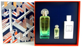 Hermes Un Jardin Sur Le Nil Eau de Toilette 3.3 oz.+ 0.25 oz.EDT Mini + 2.7 oz.Body Lotion. New Set for Women.