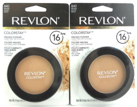 Revlon ColorStay Pressed Powder Medium 840 Shine Free for 16 Hours. 0.3 oz.Each Sealed. Pack of 2 pcs.
