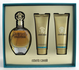Roberto Cavalli Signature by Roberto Cavalli Gift Set 3 pc for Women EDP Spray 2.5 oz+B/Lotion+Shower Gel NIB