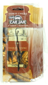 Yankee Candle Car Jar Air Freshener Leather Scent set of 10 pcs. Each individually wrapped.  Brand new. Comes sealed.