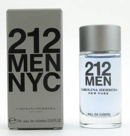212 MEN NYC by Carolina Herrera Eau De Toilette SPLASH for Men 7 ml./ 0.24 oz. Mini