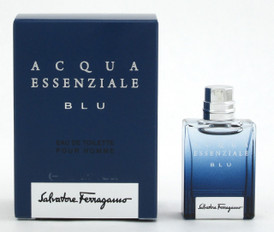 Acqua Essenziale Blu by Salvatore Ferragamo Eau De Toilette Splash for Men 5 ml./ 0.17 oz. Mini