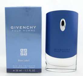 Blue Label Pour Homme by Givenchy Eau de Toilette Spray for Men 1.7 oz./ 50 ml. NIB Sealed
