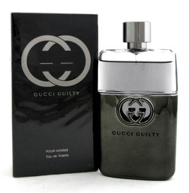 Gucci Guilty Pour Homme by Gucci 3.0 oz. EDT Spray for Men. New. Damaged Box.
