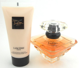 Tresor by Lancome Eau de Parfum 1.7 oz. + Body Lotion 1.7 oz. UNBOXED.