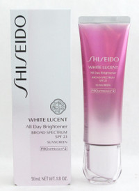 Shiseido White Lucent All Day Brightener Broad Spectrum SPF 23 Sunscreen 50 ml./ 1.8 oz. New In Box