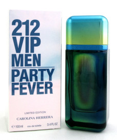 212 VIP Party Fever Limited Edition by Carolina Herrera EDT Spray 3.4 oz. for Men. New in Sealed Box.