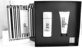 212 VIP MEN by Carolina Herrera 3.4 oz.Eau De Toilette Spray + 3.4 oz.Shower Gel. New Set for Men.