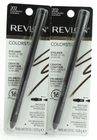 Revlon Colorstay Eyeliner Crayon Contour 202 Black Brown Up-to 16 Hours Wear. Lot of 2
