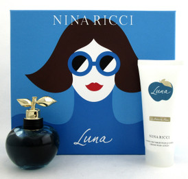 Luna by Nina Ricci Set for Women: 2.7 oz.EDT Spray + 3.4 oz. Body Lotion. Brand New