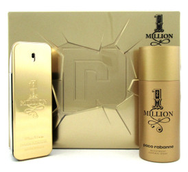 1 Million Cologne by Paco Rabanne SET: 3.4oz. EDT+ 5.1oz. Deo. New in Metal Box.