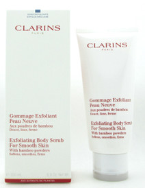 Clarins Exfoliating Body Scrub for Smooth Skin With Bamboo Powders Softens, Smoothes, Firms 200 ml./ 6.9 oz. NIB