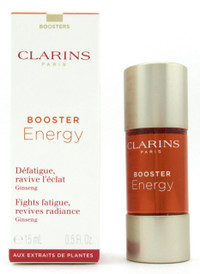 Clarins Booster Energy Fights Fatigue, Revives Radiance Ginseng 15 ml./ 0.5 oz. NIB