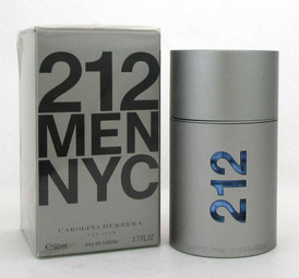 212 MEN NYC by Carolina Herrera Eau de Toilette Spray 1.7 oz./ 50 ml.