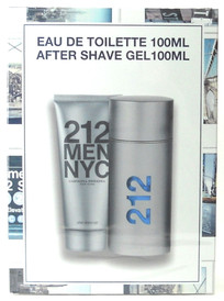 212 Men NYC by Carolina Herrera EDT 3.4 oz.+After Shave Gel 3.4 oz.