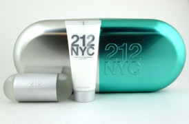 212 NYC by Carolina Herrera 2.0 oz EDT Spray +3.4 oz.B/Lotion.New Set