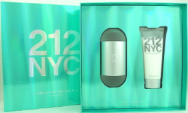 212 NYC Carolina Herrera Set for Women:3.4oz.EDT Spray+3.4oz.Lotion