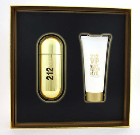 212 VIP by Carolina Herrera 2.7oz.EDP+3.4oz.Lotion New Set for Women