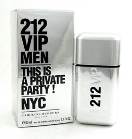 212 VIP Men Herrera Eau de Toilette Spray 1.7 oz./ 50 ml. NIB