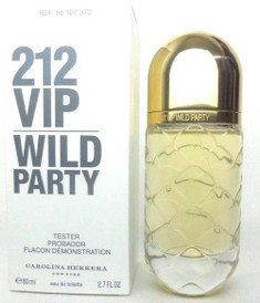212 VIP Wild Party Carolina Herrera EDT Spray 2.7 oz.Women *Tester