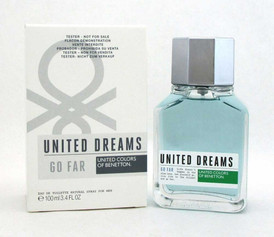 Benetton United Dreams GO FAR EDT Spray 3.4 oz. for Men *Tester