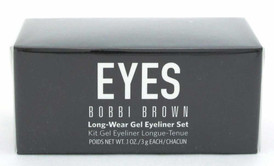 Bobbi Brown Long Wear Gel Eyeliner Set Black &Sepia Ink w/Mini Brush