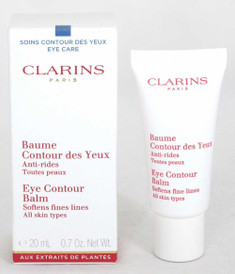 Clarins Eye Contour Balm All Skin Types 0.7 oz Softens Fine Lines NIB