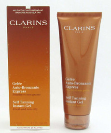 Clarins Self Tanning Instant Gel 4.5 oz/125 ml Slightly Damaged Box