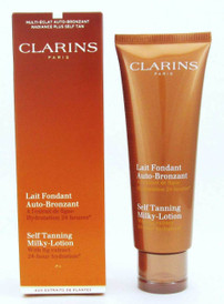 Clarins Self Tanning Milky-Lotion w/Fig Extract 4.2 oz/ 125 ml NIB