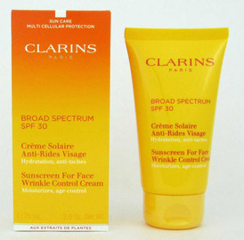 Clarins Sunscreen for Face Wrinkle Control Cream 30 SPF 75 ml/2.6 oz