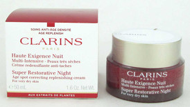 Clarins Super Restorative Night Cream For Very Dry Skin 1.6 oz NIB