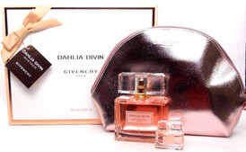 Dahlia Divin Givenchy 2.5oz EDT Spray+5 ml.EDT+Pouch.Women's Set.NIB