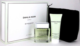 Dahlia Noir L'eau by Givenchy 3 oz.EDT Spray +Skin Dew+Pouch.New Set