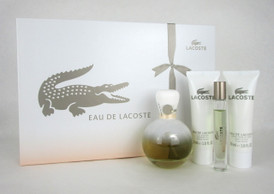 Eau De Lacoste by Lacoste 4 Piece Gift Set for Women NIB