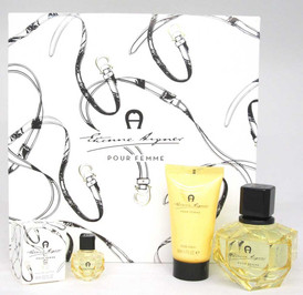 Etienne Aigner Pour Femme Women's Set EDP 3.4 oz+B/Lot1.7 oz+EDP Mini