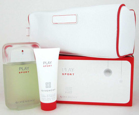 Givenchy Play Sport Gift Set for Men: EDT 3.3oz.+Sh/Gel 2.5oz.+Pouch