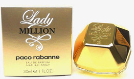 Lady Million by Paco Rabanne Eau de Parfum Spay 1oz.NIB.No Cellophane