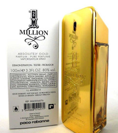 Paco Rabanne 1 Million Absolutely Gold Parfum 3.3 oz./100 ml. *Tester