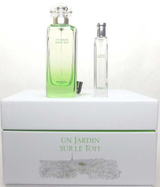 Un Jardin Sur Le Toit by Hermes 3.3oz.EDT Spray+15 ml Spray. NIB Set